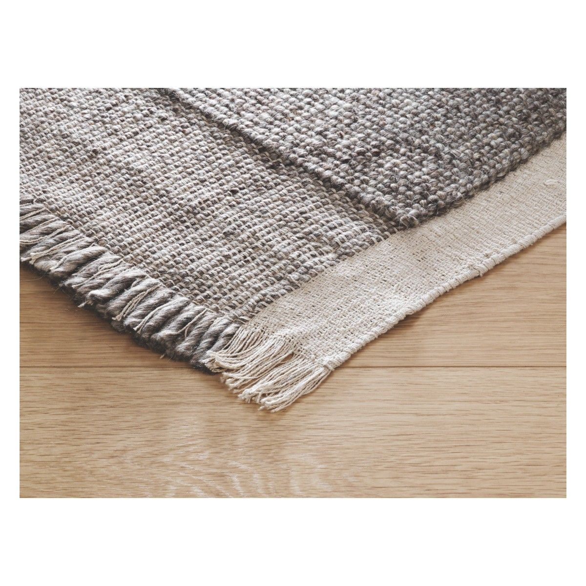 Bortollo Medium Cream Wool Blend Rug 140 X 200cm Now