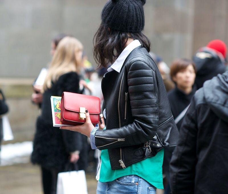 41a5322a4335 Leather jacket   Mini Classic Box CÉLINE