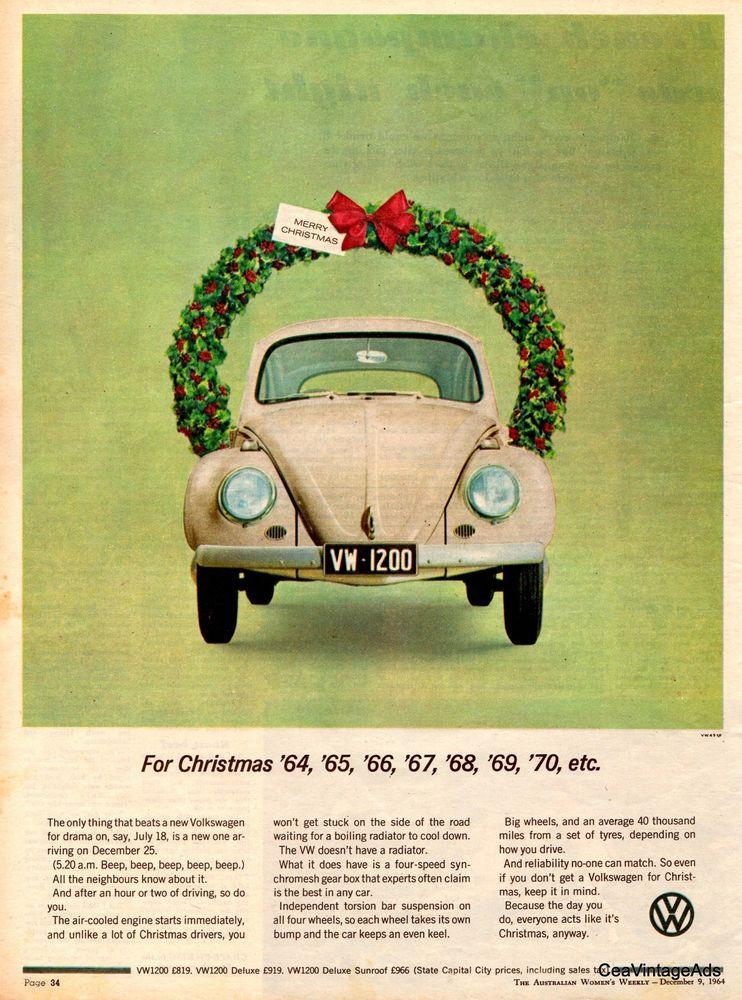 VOLKSWAGON VW BEETLE 1964 - Vintage Original Ad Australian Womens ...