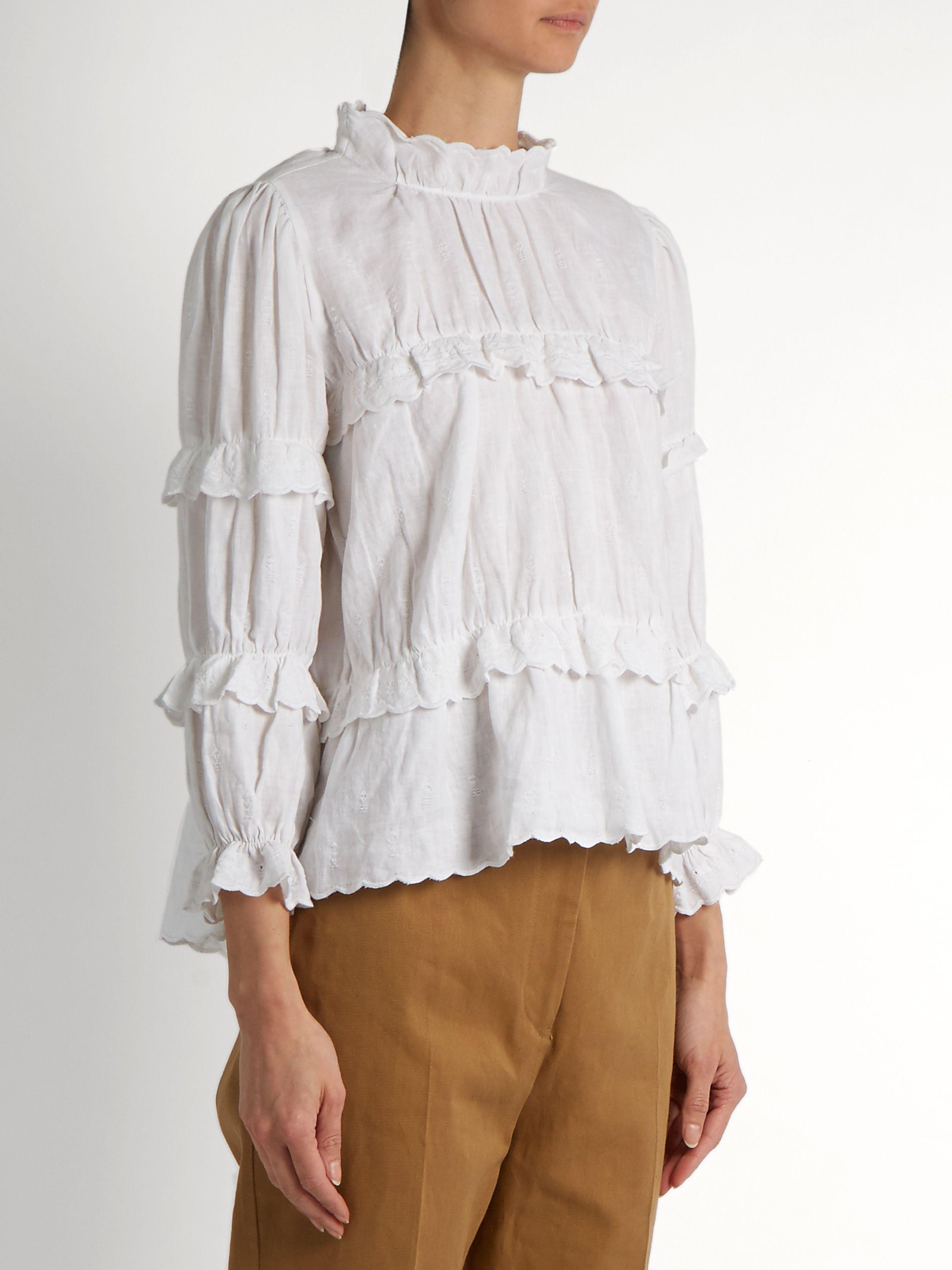Buy Best New Isabel Marant Étoile ruffled blouse vWrnSh