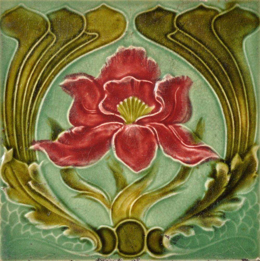 Corn c1905 rs0086 art nouveau tiles art nouveau tels art nouveau ceramic tile made by j dailygadgetfo Choice Image