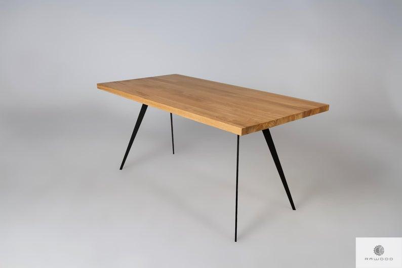 Dining Table Oak Solid Wood Table Handmade Wood Steel Table Legs Oak Dining Table Oak Table Top Handmade Table Wooden Table Solid Wood Vita Oak Dining Table Oak Table Top Solid
