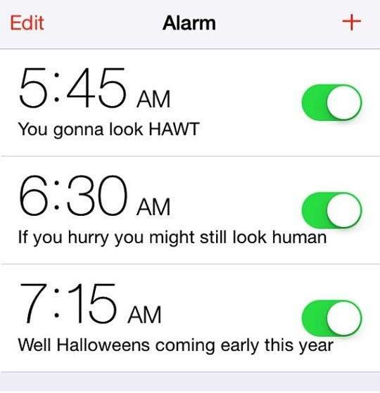 Wake up alarms… | Hilar-lar | Funny pictures, Hilarious, Funny