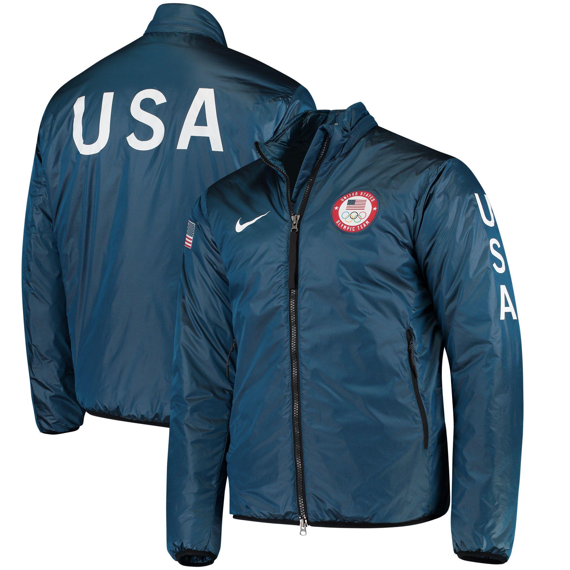 low priced b141b 83145 Team USA Nike Lab 2018 Olympics Midlayer Jacket – Blue ...