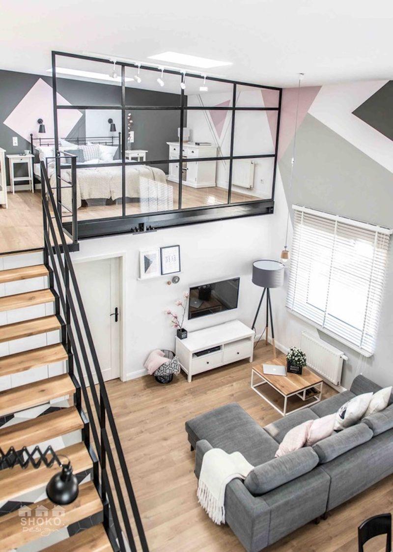 loft scandinave exemple contemporain chambres minuscules appartements appartements de garage loftd espaces ouverts dcoration dintrieur