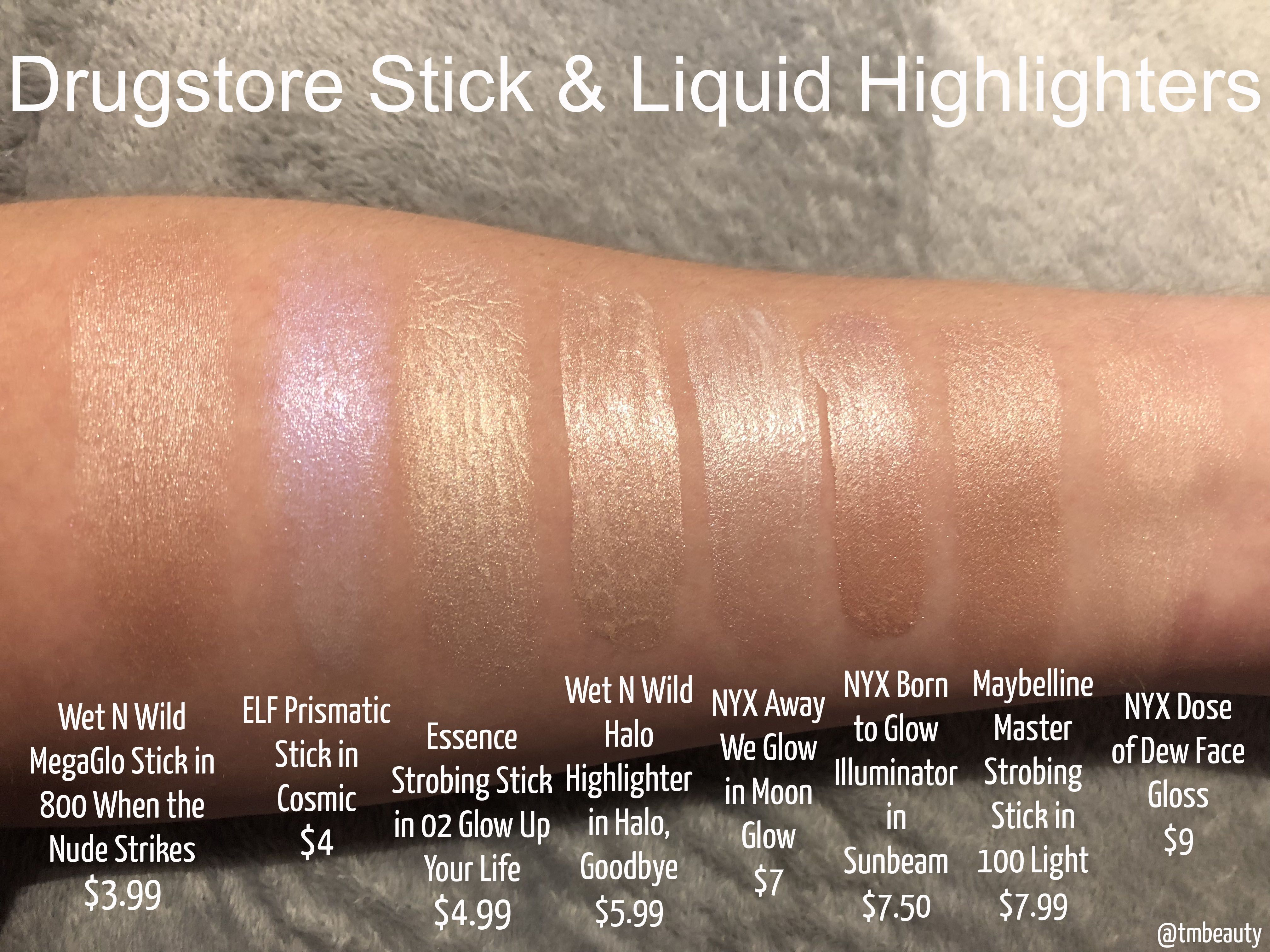 Tips To Keep Your Skin Young And Beautiful Highlighter Swatches