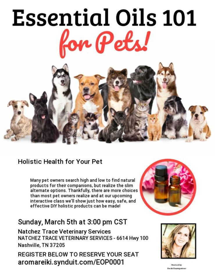Learn how NATURAL ways to care for your PETS! FREE Class