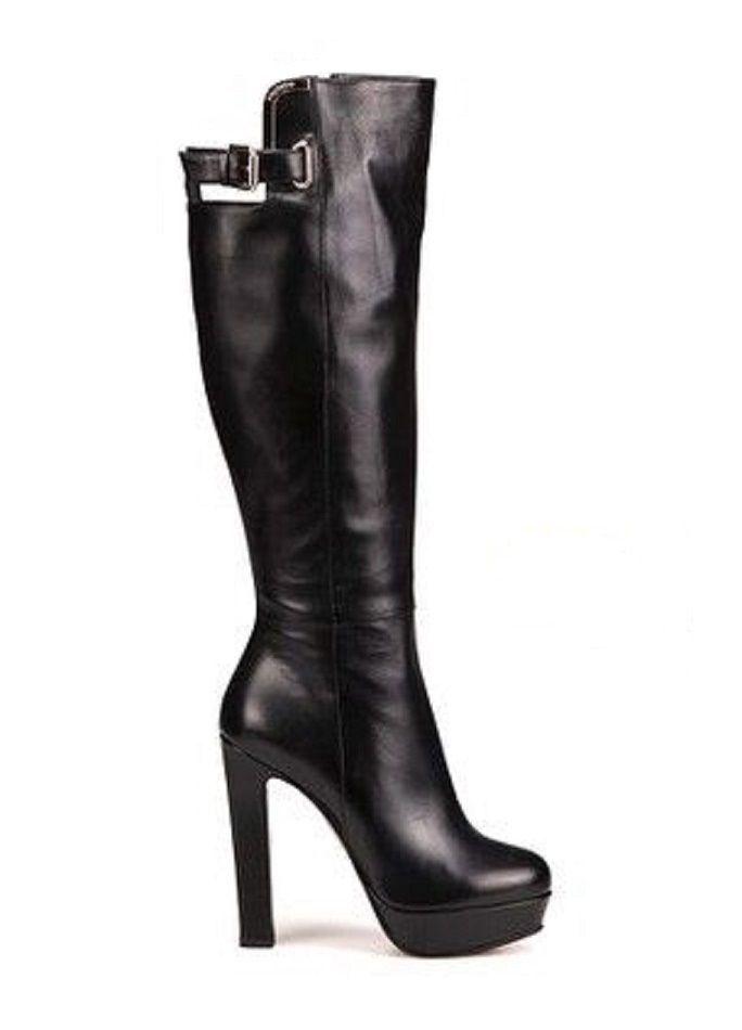 buy popular 7239f d3d80 Lederstiefel Schwarz/Designer über das Knie Stiefel/Sexy ...