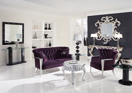 Purple and Silver living room. | For the Home | Modern baroque ...