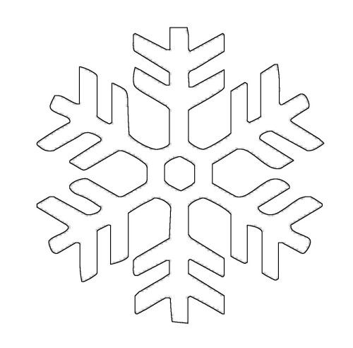 schneeflocken und sterne schneeflocke 11 zum ausmalen