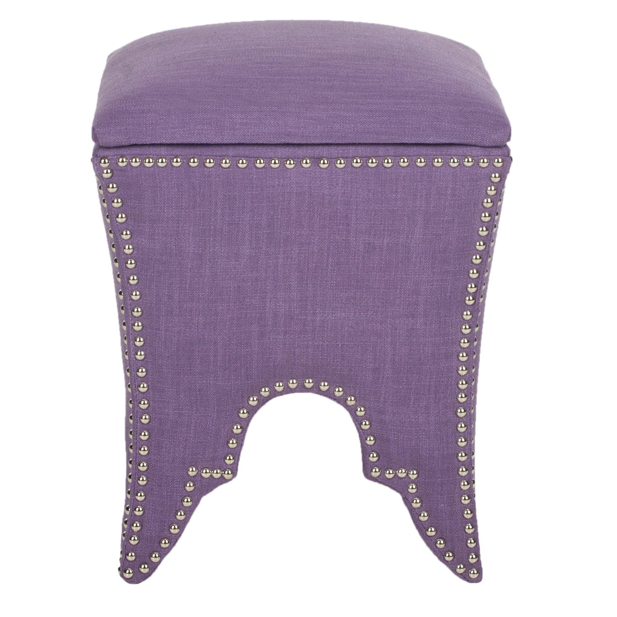 Deidra Accent Chair Olliix: Storage Ottoman - Lavender - Safavieh , Purple