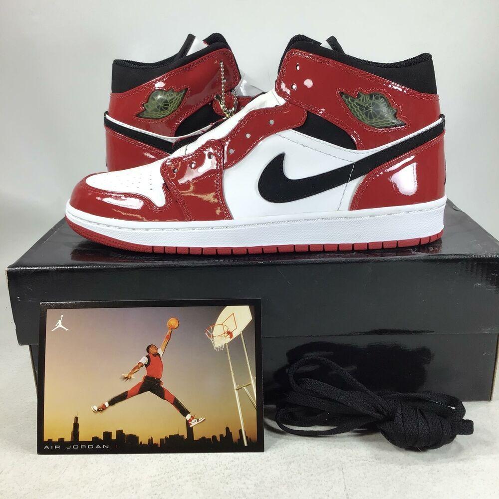2003 Air Jordan 1 Retro Chicago Bulls Patent 136085106 Size ...