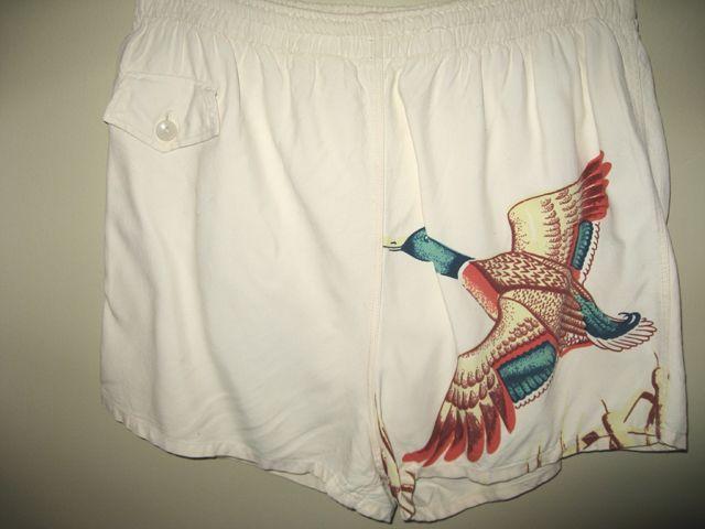 Catalina Mallard duck swim trunks/ cabana set shorts 1940s