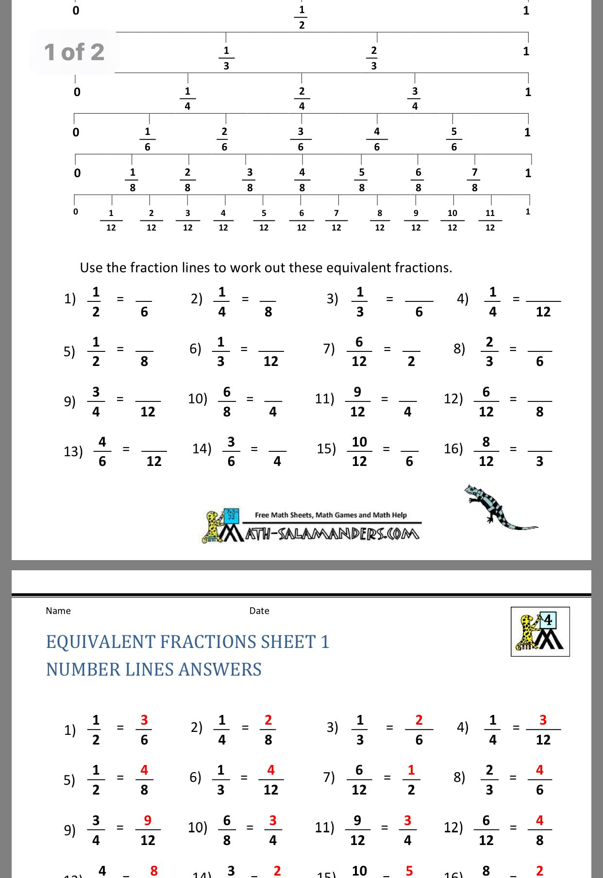 Pin by Nadxelly Pineda on Third Grade ️ Fractions