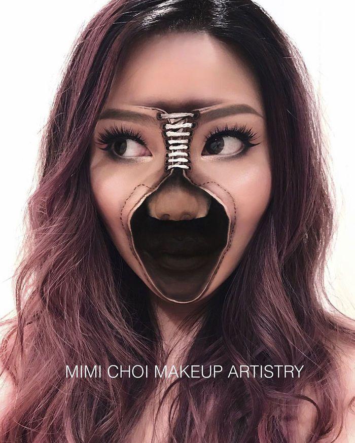 Optical Illusion Make Up Mimi Choi Amazing Halloween Makeup Optical Illusions Makeup