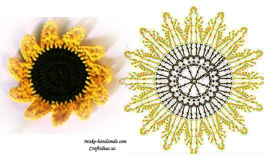 Crochet sunflower chart 4u hf httppinterest crochet sunflower chart 4u hf httppinteresthilariafina ccuart Images