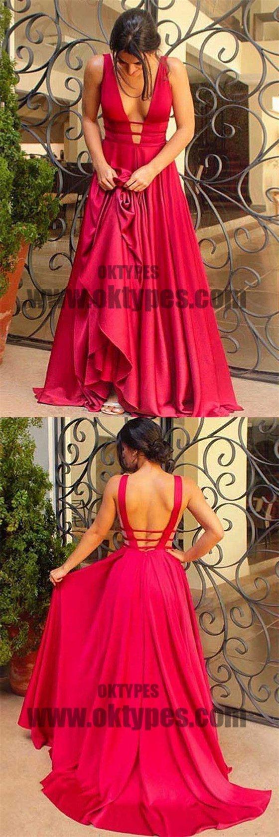 Red spaghetti strap vneck backless prom dresses long mermaid soft