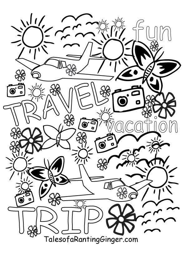 Colouring Pages For Adults Free Travel Printable To Colour Adult