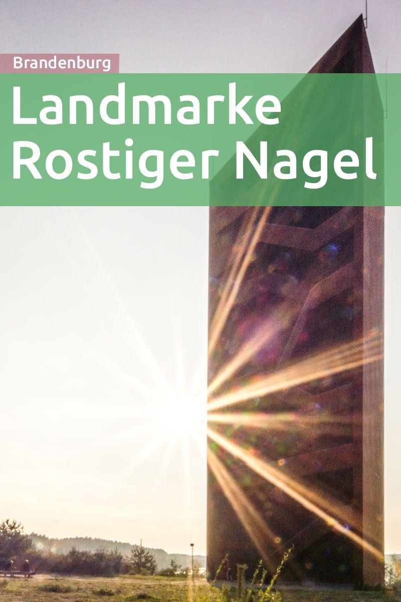 Der Rostige Nagel, ein 30m hoher Aussichtsturm am Sornoer Kanal ...