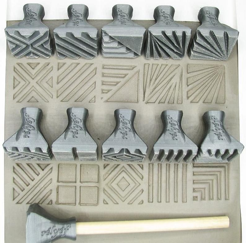 pottery texturing ceramic clay tools: rélyéf set of jumbo square stamps 30  x 30 in 2020 | decorative pottery, clay stamps, ceramic texture  pinterest