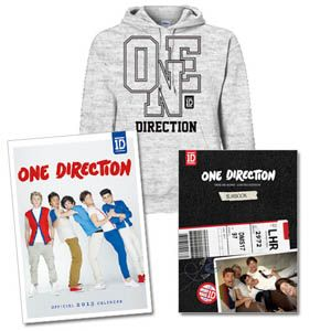 One Direction - One Direction Take Me Home Deluxe Yearbook CD, Grey Marl Hoodie & Calendar Bundle