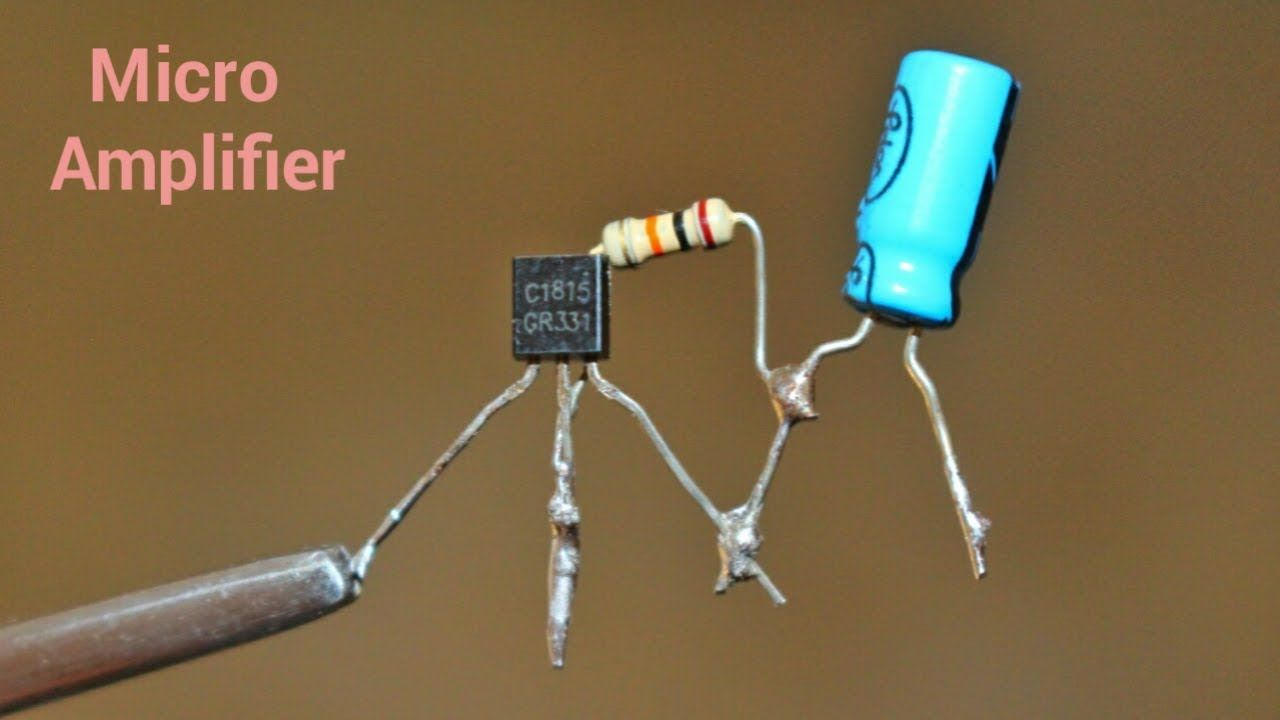 Circuito Integrado De Dimensiones Muy Pequeñas : Make a mini amplifier by using c1815 single transistor amplifier