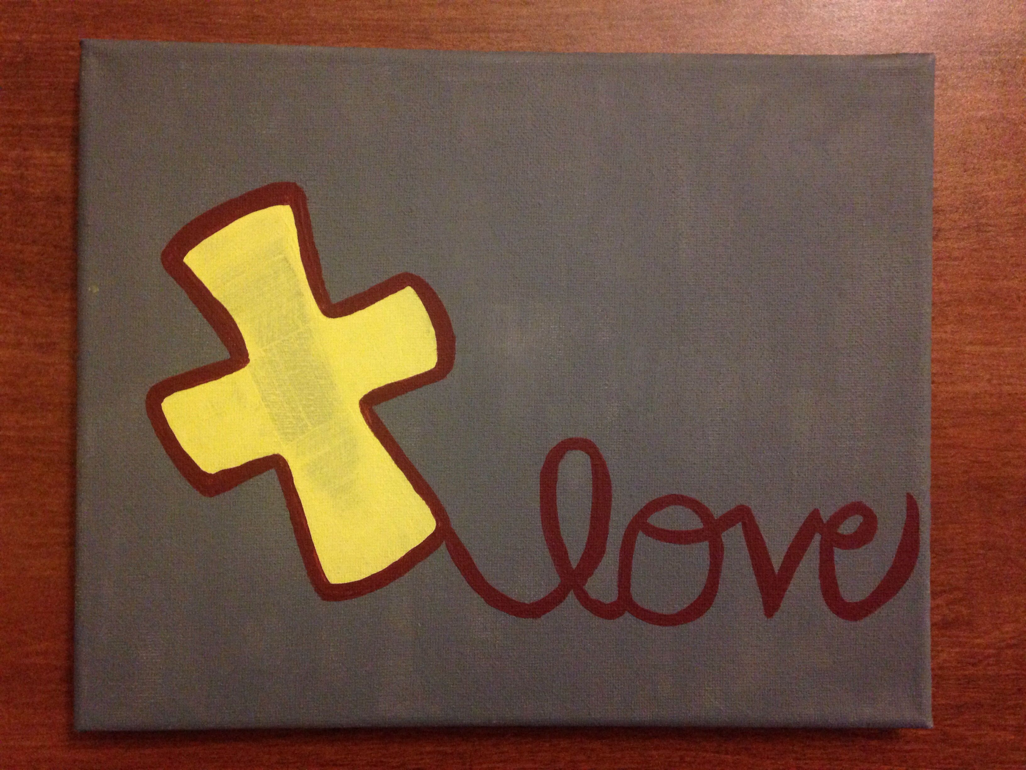 Canvas Painting: Love Cross