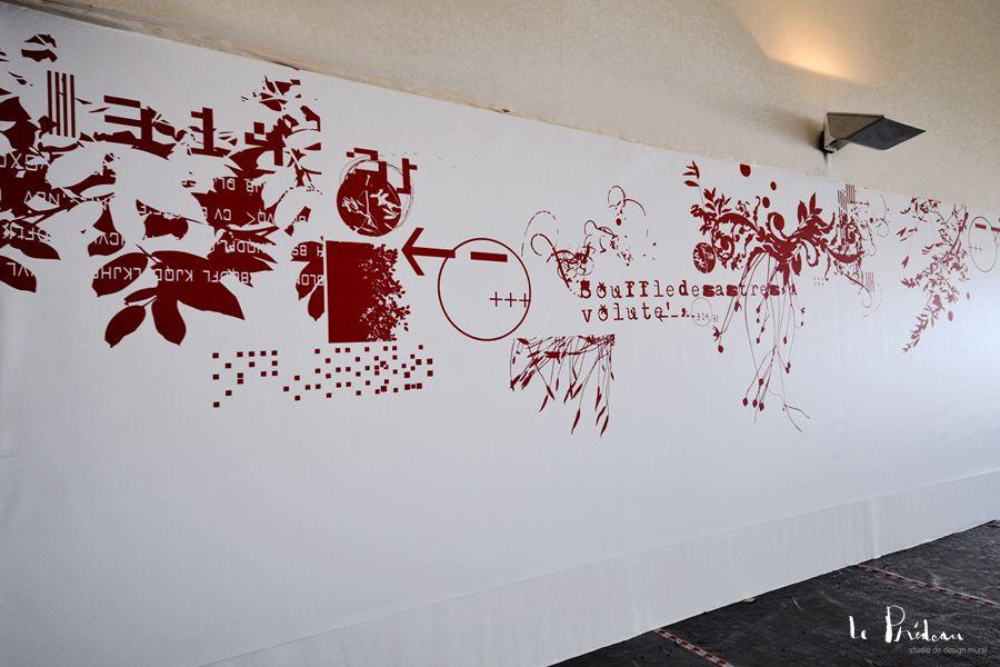 Graphisme mural pour l'Armada à Rouen
