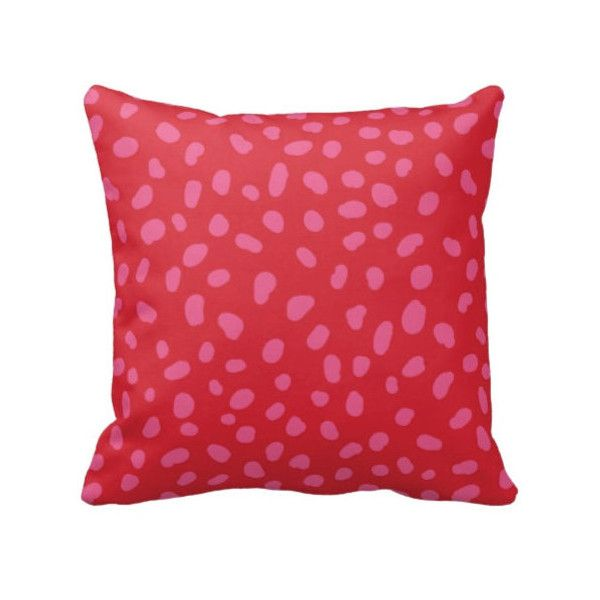 Spotted Throw Pillow Cover And InsertDalmatian PrintRed And Extraordinary Red And Gray Decorative Pillows