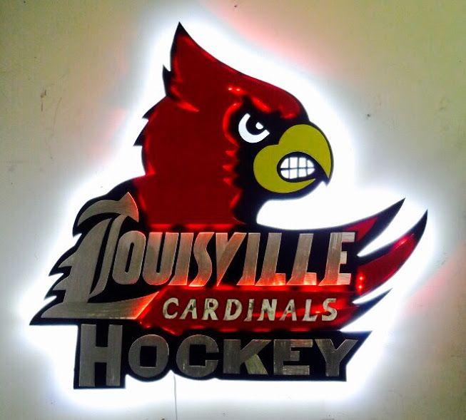 University Of Louisville Hockey Sign By Tony Viscardi Uofl Sign