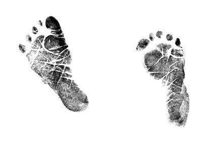 how to print a baby s footprint with ink baby stuff pinterest