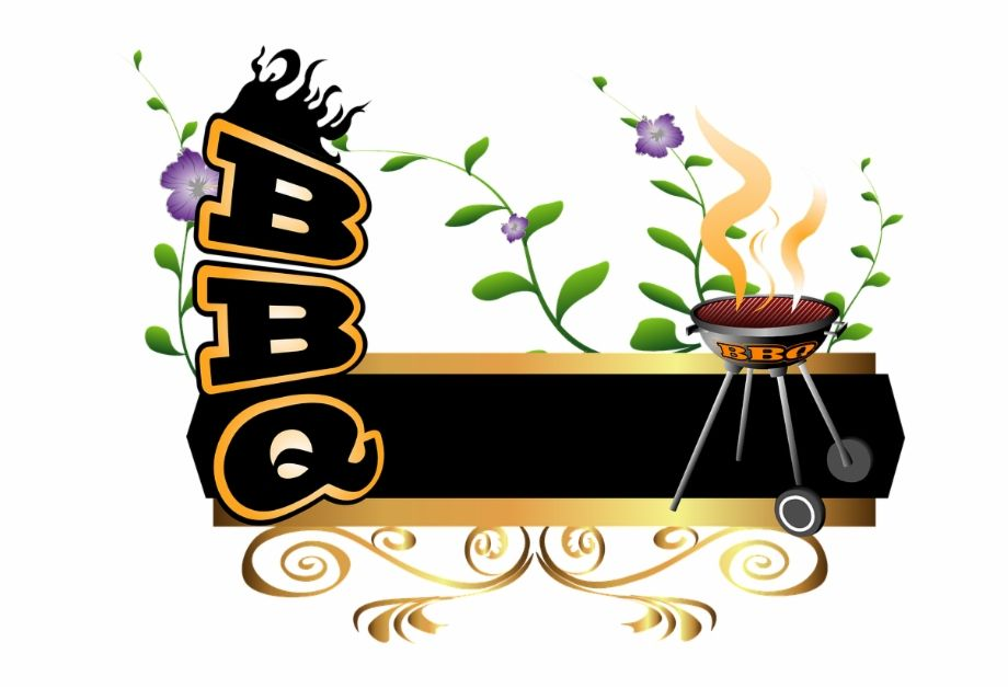 Grilling Clipart Bbq Word Transparent Background Bbq