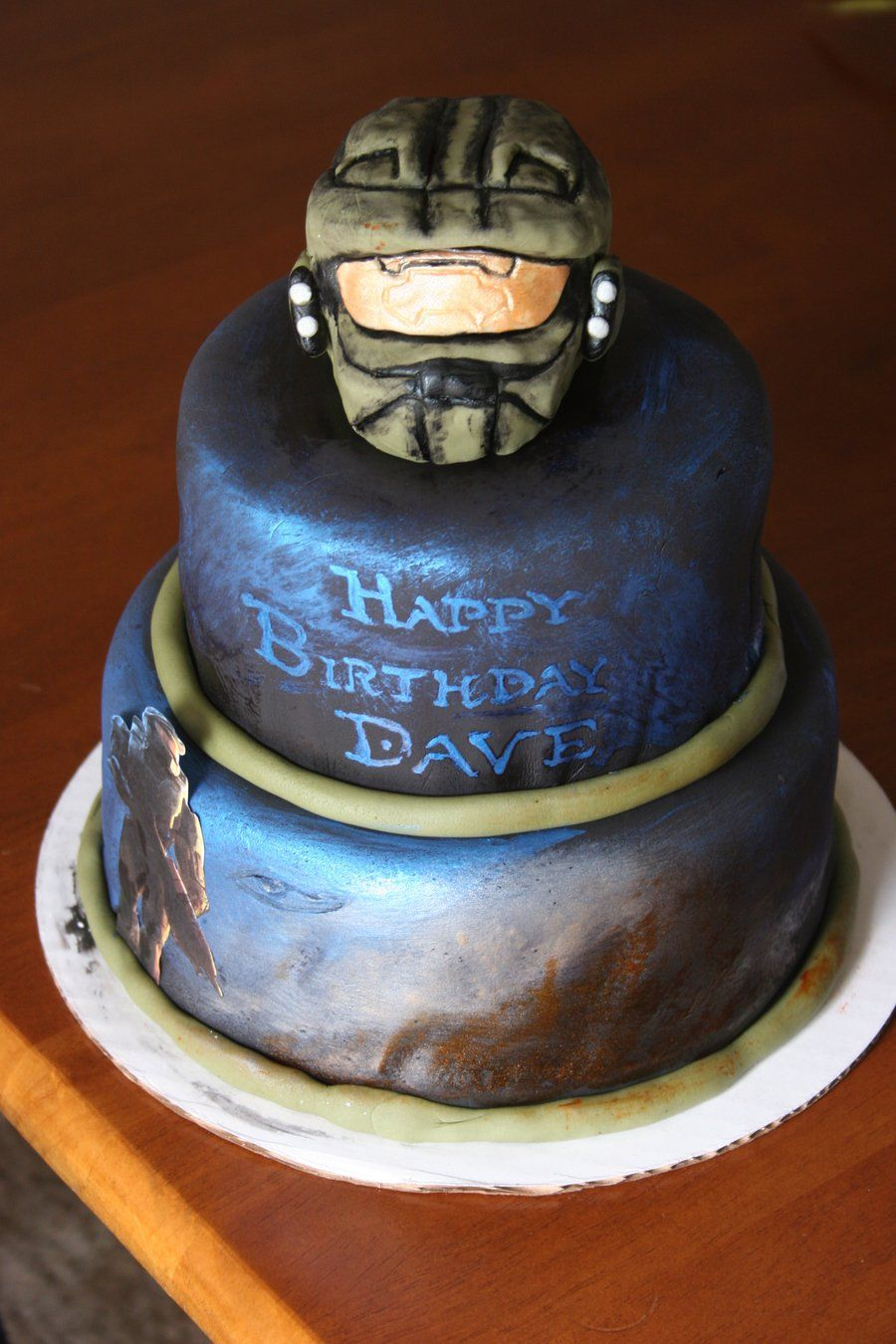 Fantastic Halo Birthday Cake With Images Halo Cake Video Game Cakes Cake Birthday Cards Printable Nowaargucafe Filternl