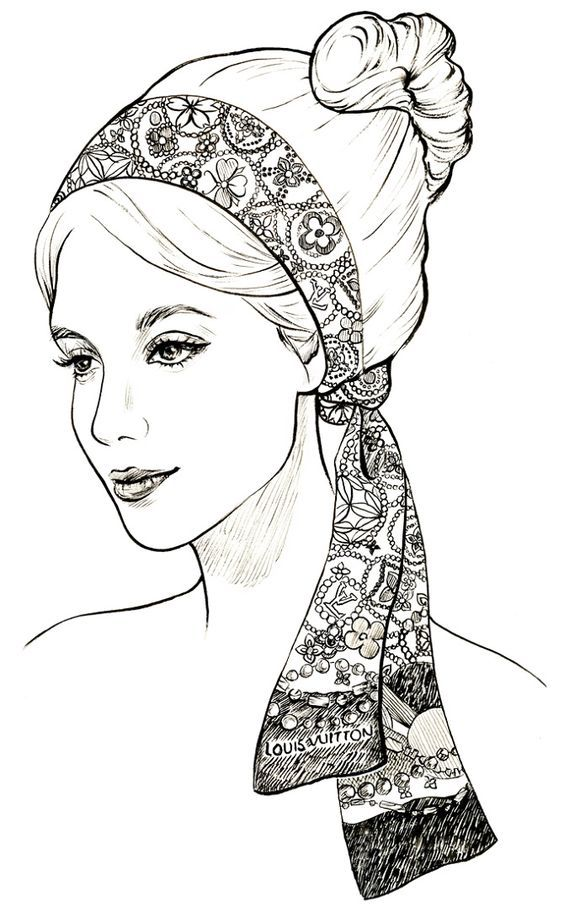 beautiful face to color | Coloring pages | Pinterest | Colores ...
