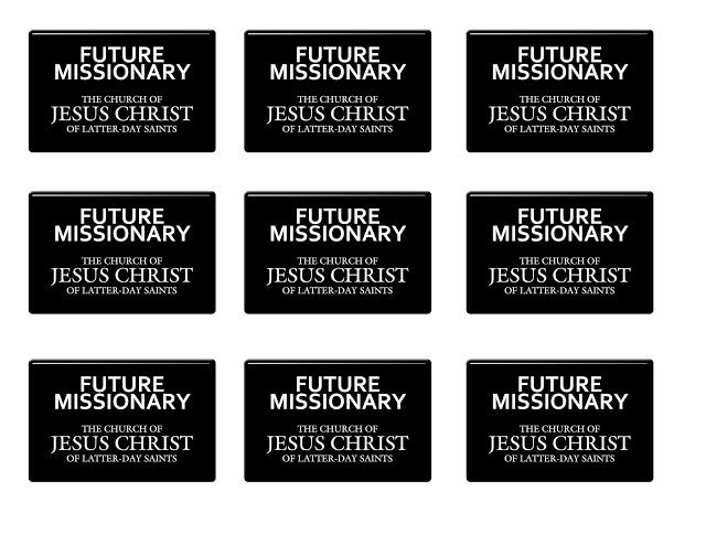 It's just a photo of Versatile Missionary Name Tag Printable