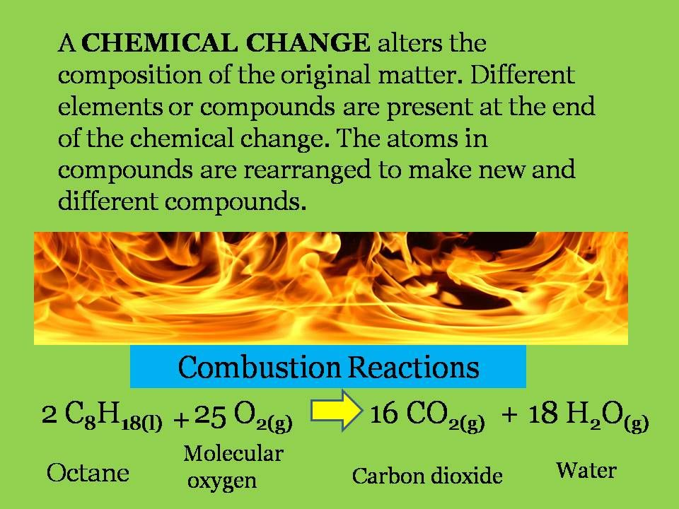 Chemical Reactions This Is A Combustion Reaction The Products On The Right Of The Arrow Will Always Be Carbon Molecular Chemical Changes Chemical Reactions