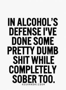 Alcoholic Quotes Enchanting Hahahah Yasssvery True But Not As Dumb As The Stuff I've Some . 2017