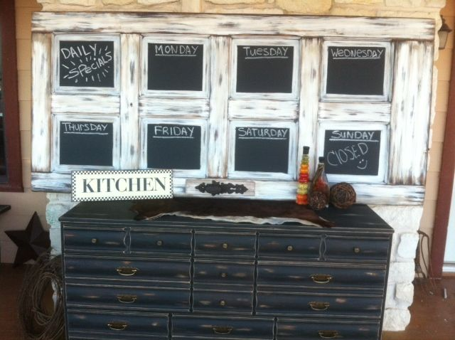 Old Door turned into awesome Chalkboard!!