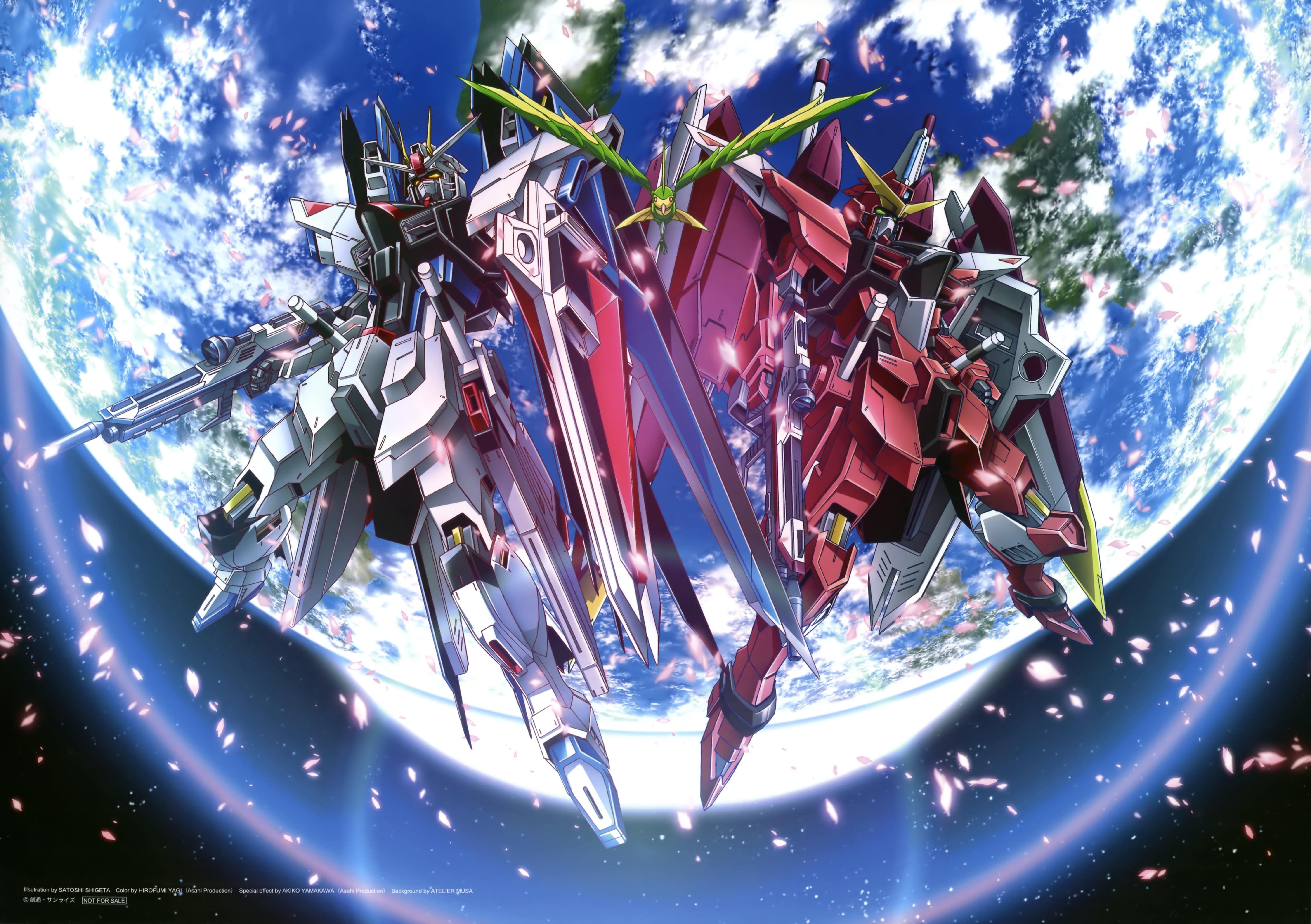 Freedom Gundam Justice Gundam Gundam Wallpapers Anime Gundam