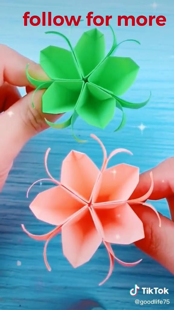 Photo of Origami video. paper. flower. beautiful.