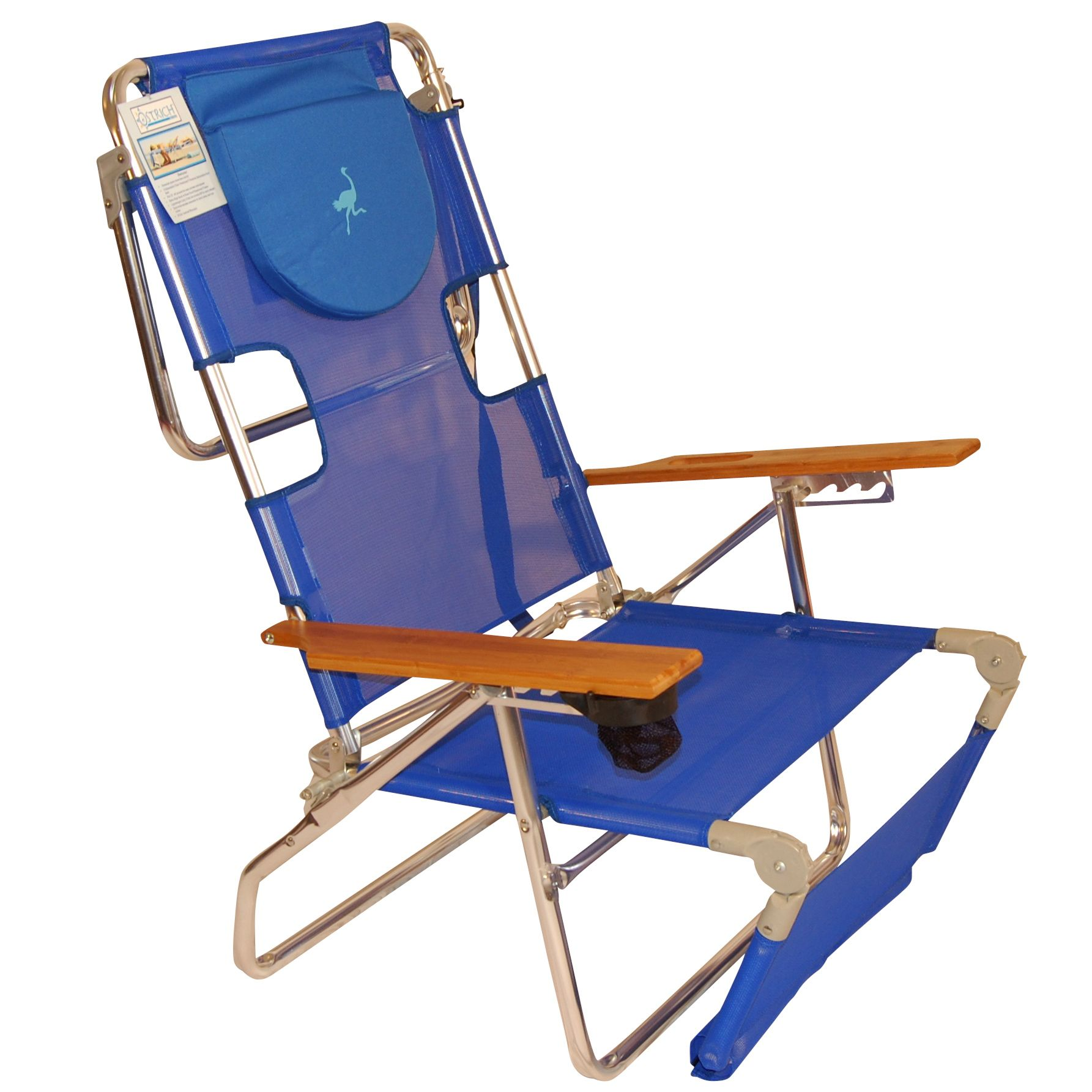 beach chair pillow with strap denver broncos portable garden chairs folding camping in spain