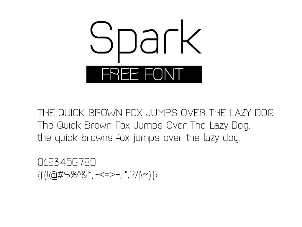 Free Modern Font Spark | Mock-up | Pinterest