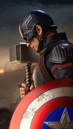 Captain America With Hammer And Shield Wallpapers | hdqwalls.com
