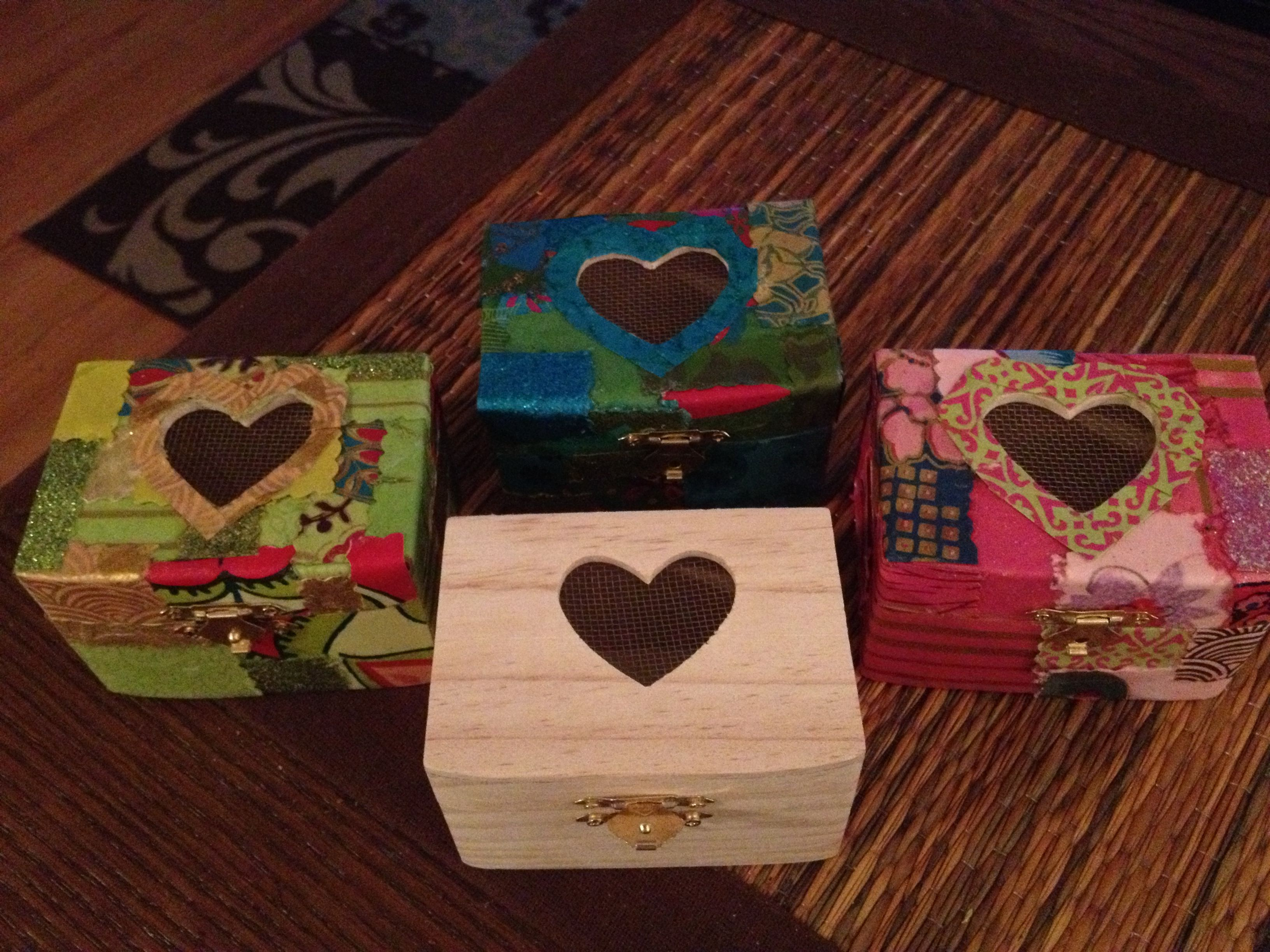 Bought small wooden boxes for a dollar and a bag of decorative paper for 10 dollars & Bought small wooden boxes for a dollar and a bag of decorative ... Aboutintivar.Com