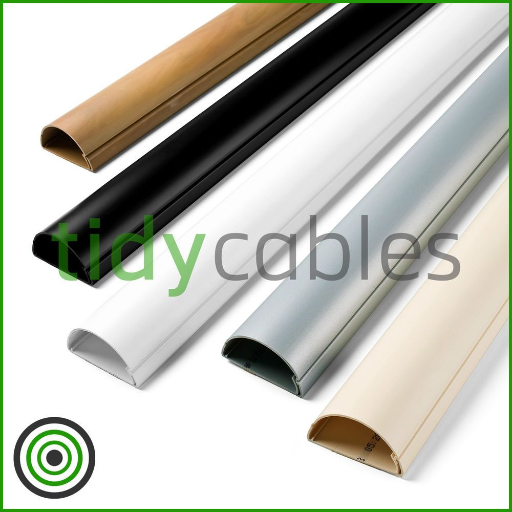 D-Line 50x25 TV Cable Tidy Cover Wire Hide Trunking 25cm, 50cm, 75cm ...