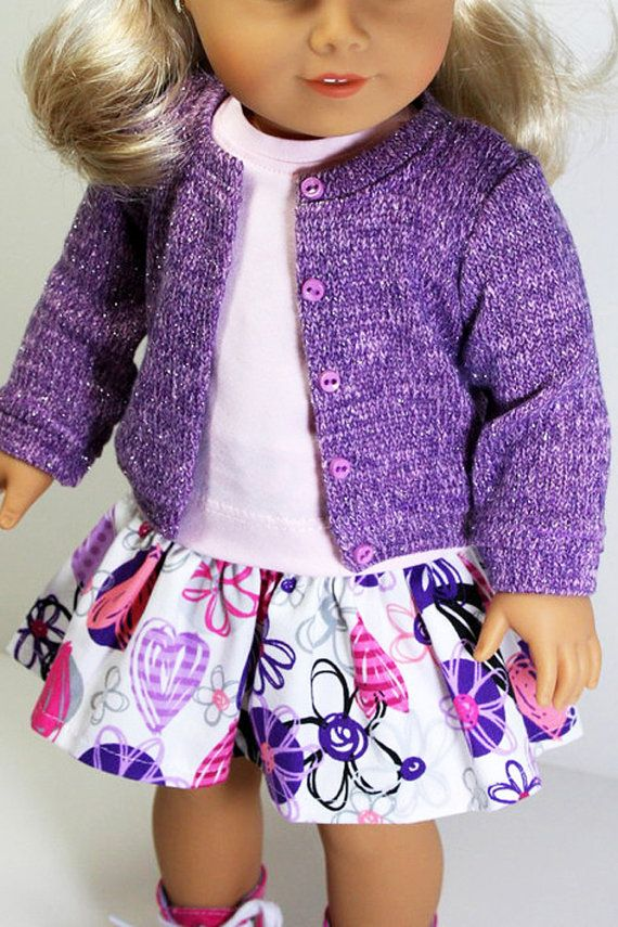 American Girl Doll Clothes Lavender Sweater by sewurbandesigns