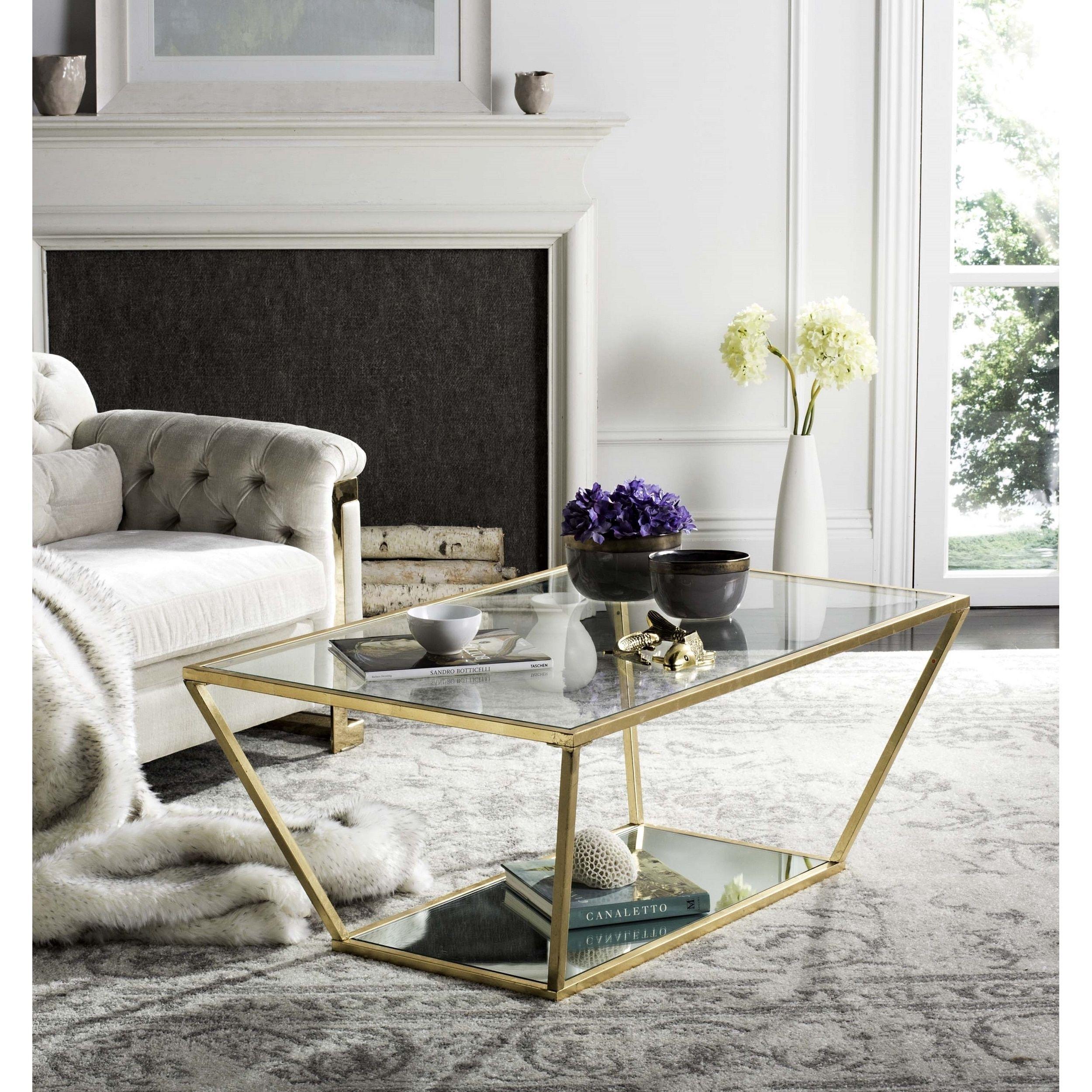 Zola Glass Coffee Table Chrome Safavieh Coffee Table Glass Coffee Table Contemporary Coffee Table [ 1000 x 1000 Pixel ]