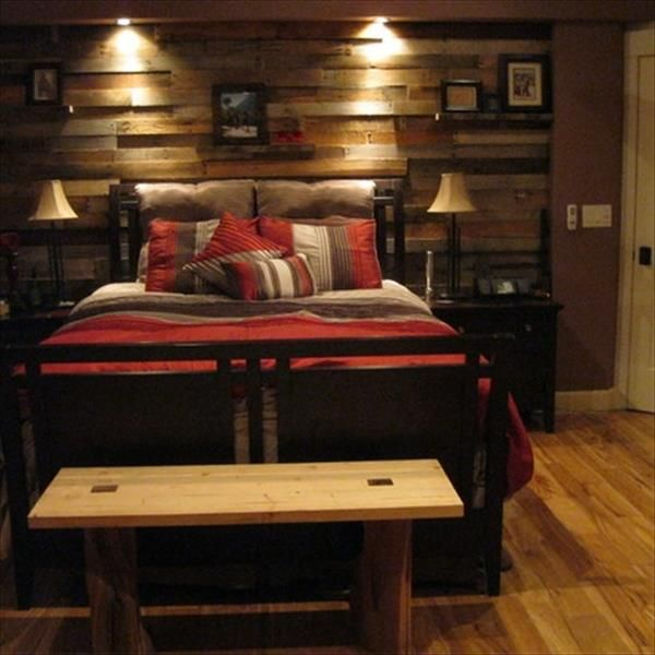 Wood Accent Wall Patterns: 16 DIY Wood Pallet Wall Ideas