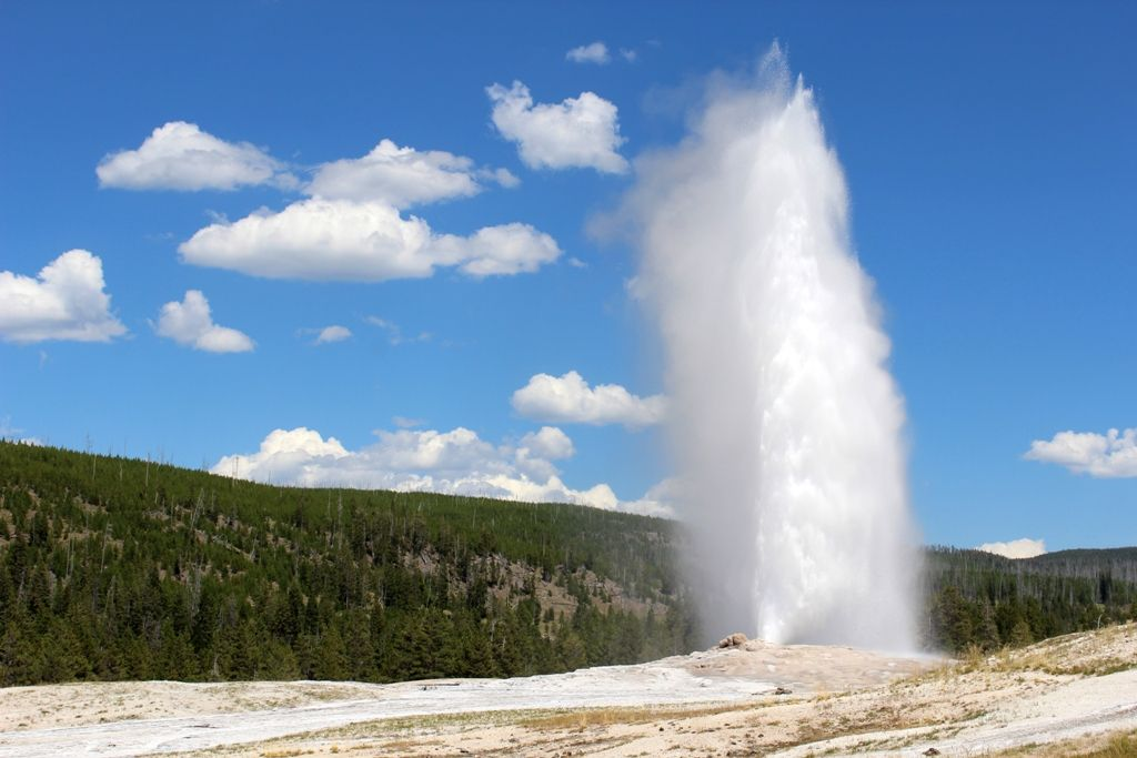 Summer Highlights Of Yellowstone Park Yellowstone National Park - 50 states in famous landmarks