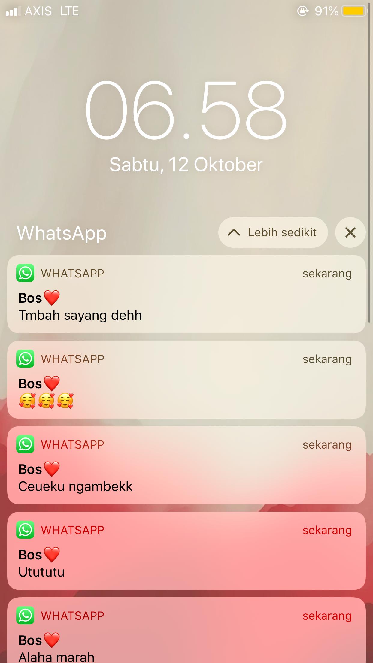Screenshot Chat Pacar Cowo Gebetan